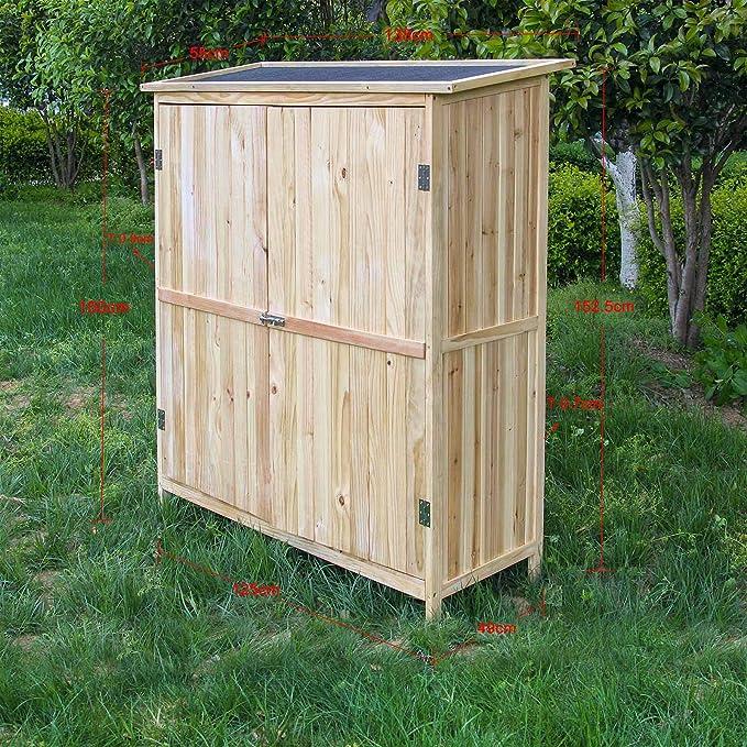 Caseta de herramientas Puerta doble Caseta de jardín Cobertizo Armario de jardín Armario para aperos: Amazon.es: Bricolaje y herramientas