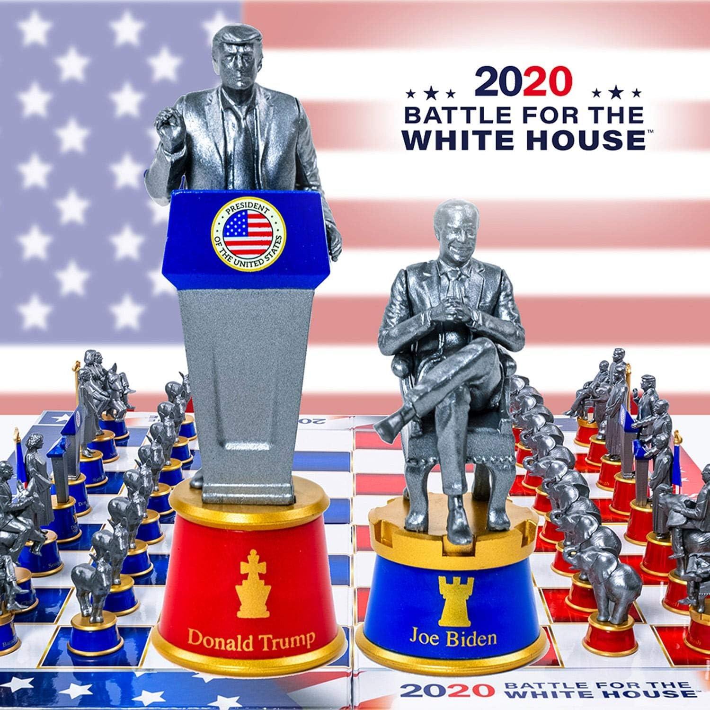 Political Chess Chess Set MAGA Democrats vs Republicans President OBAMA