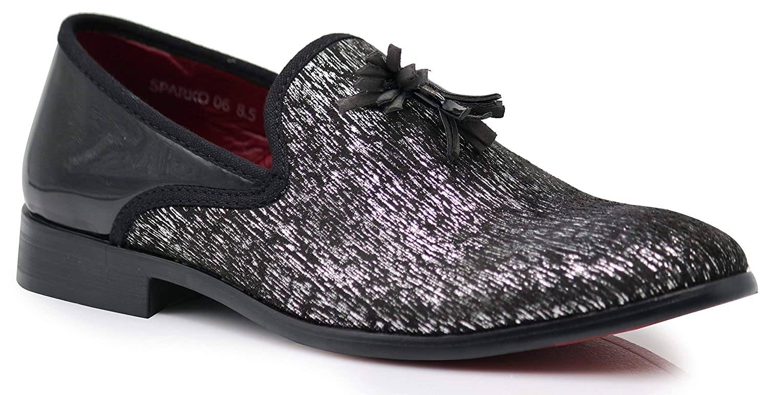 a9543bd3a8ab3 Amazon.com | Enzo Romeo Harell05 Men's Vintage Velvet Dress Shoes Classic  Tuxedo Slip On Loafers | Loafers & Slip-Ons