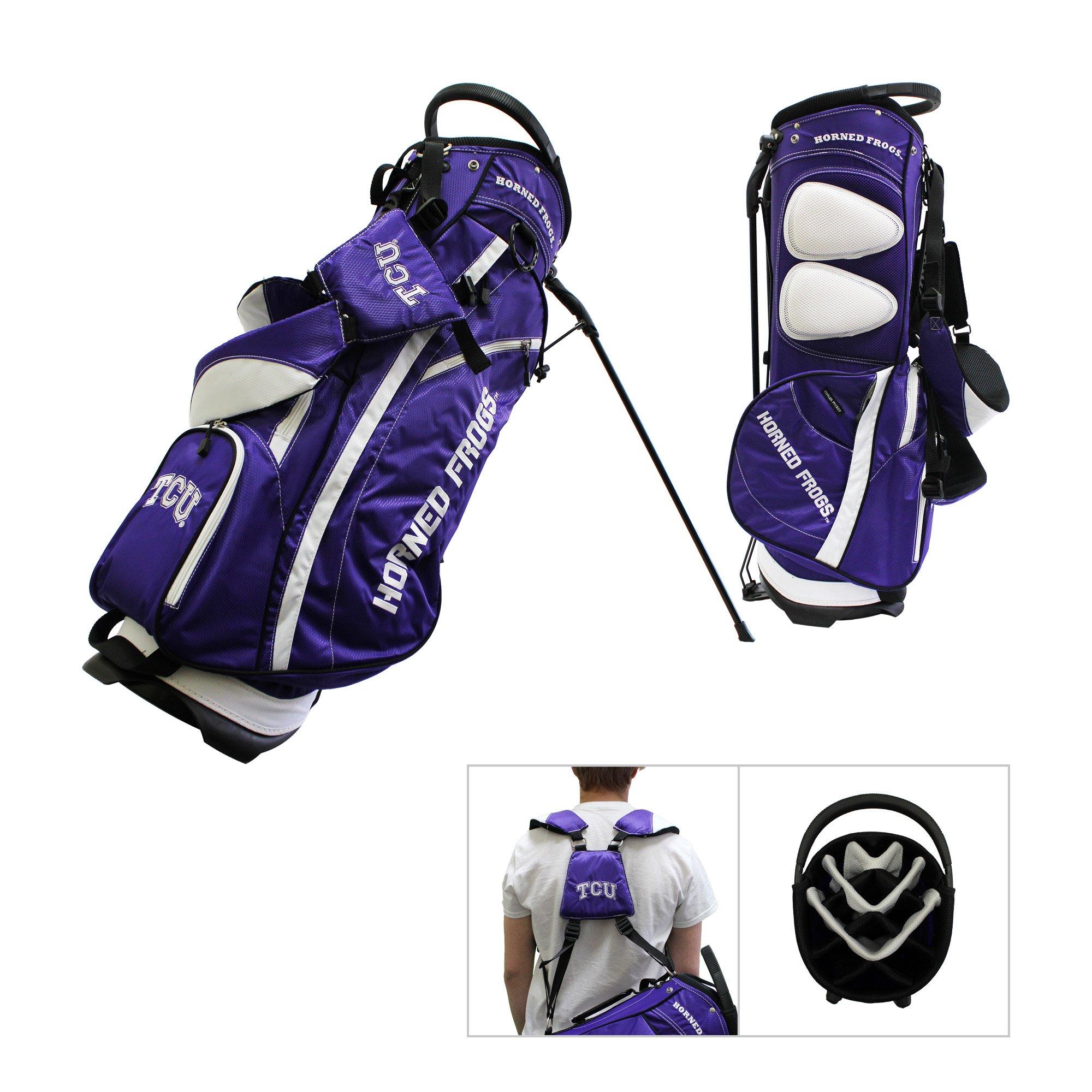 TCU Horned Frogs Team Golf Fairway Lightweight 14-Way Top Golf Club Stand Bag