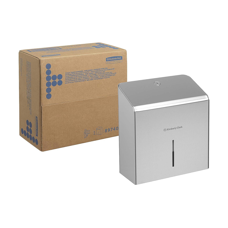Kimberly-Clark 8974 Dispensador de Papel Higiénico en Rollo, Acero Inoxidable: Amazon.es: Industria, empresas y ciencia