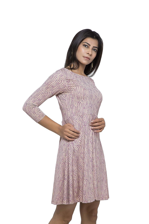 2e65f0580153 Tucks And Pleats Women S Light Pink Dresses(Tnplpink-Xl Light  Pink X-Large)  Amazon.in  Clothing   Accessories