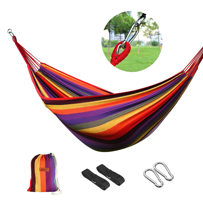 logei®Hamaca para Camping Excursión al Aire Libre Jardín Capacidad de Carga Kg