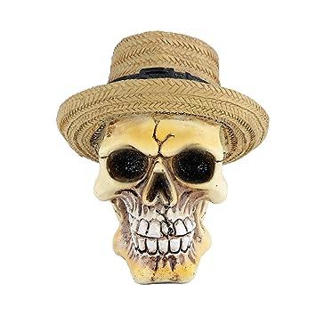 Mini Caveira de Resina Panamá Hat 862a6cc0922