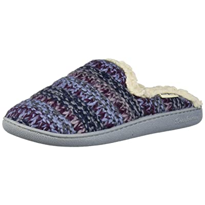 Dearfoams Women's Multicolor Textured Knit Suff with Wide Widths Slipper | Shoes