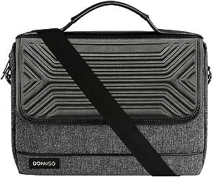 DOMISO 15.6 Inch Multi-Functional Laptop Sleeve Business Briefcase Waterproof Messenger Shoulder Bag for 15