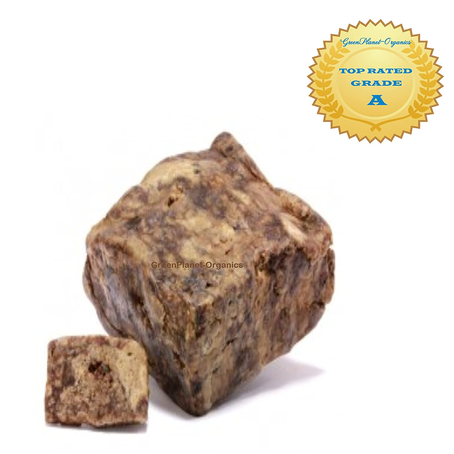 10 LBS Raw African Black Soap From Ghana. 100% Vegan, Color & Fragrance Free (Genuine batch ships & sells from GreenPlanet-Organics)