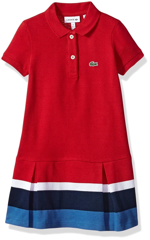 c83132992 Amazon.com  Lacoste Girls  Little Short Sleeve Pleated Bottom Dress   Clothing