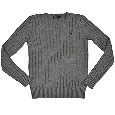 Ralph Lauren Women's Cable Knit Crew Neck Sweater at Amazon ...