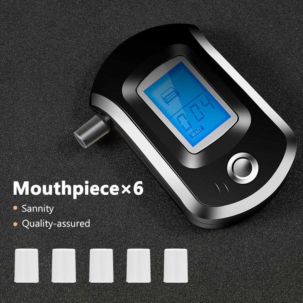 Typc B nicht im Lieferumfang enthalten Chanhan Digitaler Alkoholtester mit LCD-Display und Mundst/ücken inklusive 3 AAA-Batterien