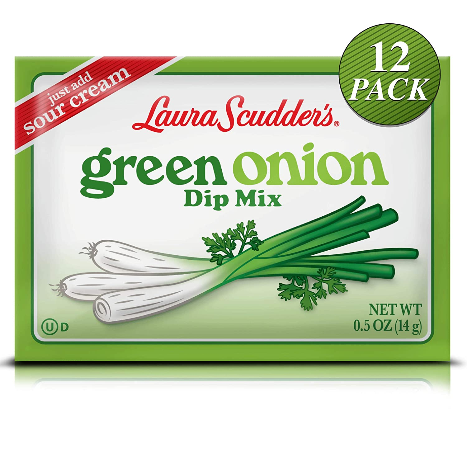 Laura Scudder's Green Onion Dip Mix Seasoning Powder Sauce (12 PACK)