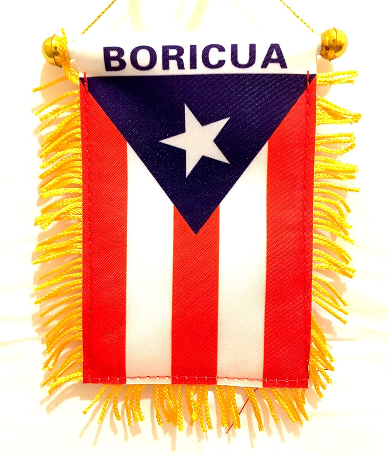 Puerto Rico Mini Banner Flag Boricua Design Limited Edition mad can studios NYC