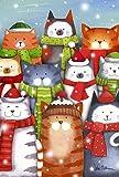 "Toland Home Garden 1110881 Cat Caroling Decorative Garden Flag 12.5 by 18"" Colorful Happy Winter Kittens Singing, Garden"