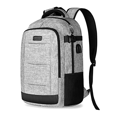 ce047ab3fac2 Business Laptop Backpack, Travel Anti Theft Backpack with USB Charging and  Headphone Port,College School Computer bag for Men and Women Fits 17 Inch  ...