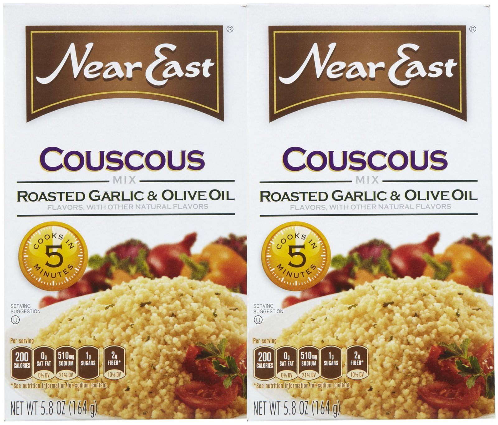 Near East Roasted Garlic & Olive Oil Couscous Mix - 5.8 oz - 2 pk