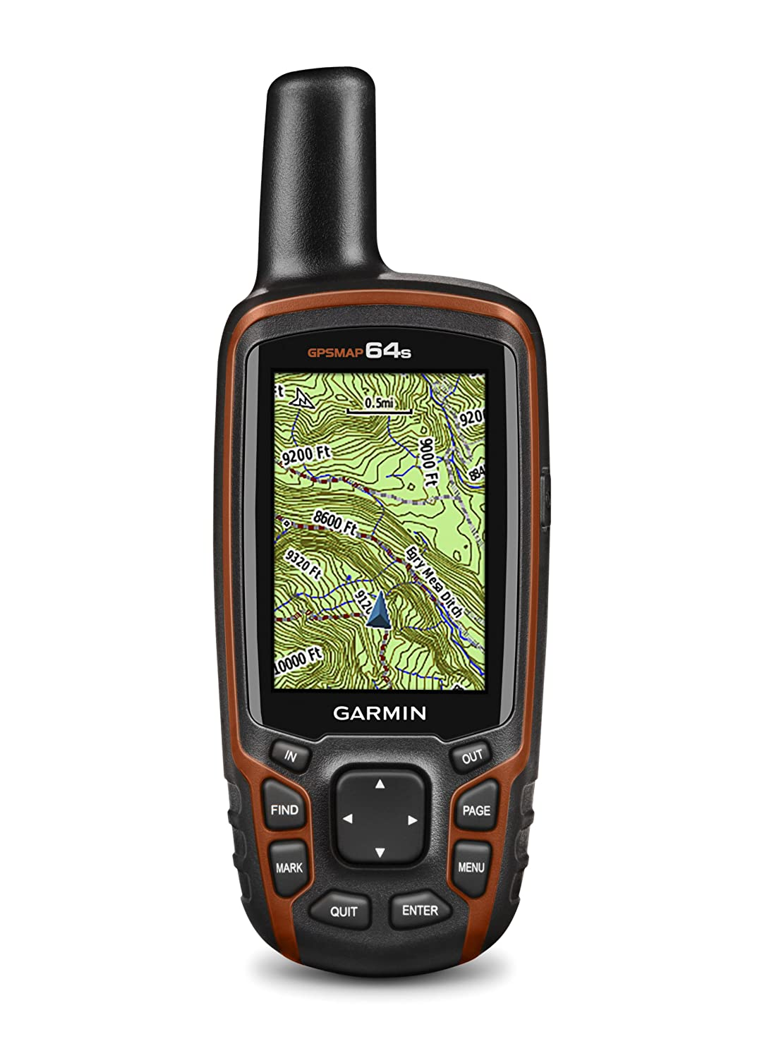 Multicolor Garmin 64S Handheld GPS with TOPO UK//Ireland Light Map with Barometric Altimeter and 3 Axis Compass