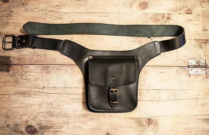 c44cc6658fbb Black Leather FANNY PACK // Mens Leather Belt Bag // Leather Hip Pouch  unisex // Black Pouch Belt for men // Bum Bags & Fanny Packs SQUARE