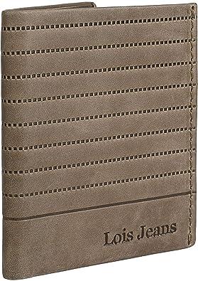 Lois - Cartera de Hombre Vertical de Cuero Piel Genuina con protección RFID. Billetera Porta-Tarjetas y documentación. Caja para Calidad excelente. Casual 202217, Color Camel: Lois: Amazon.es: Equipaje
