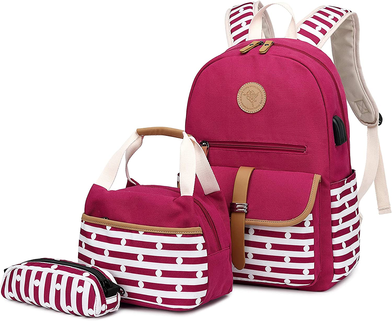 School Backpack for Girls, Gazigo Womens High School College Bookbags Laptop Bag