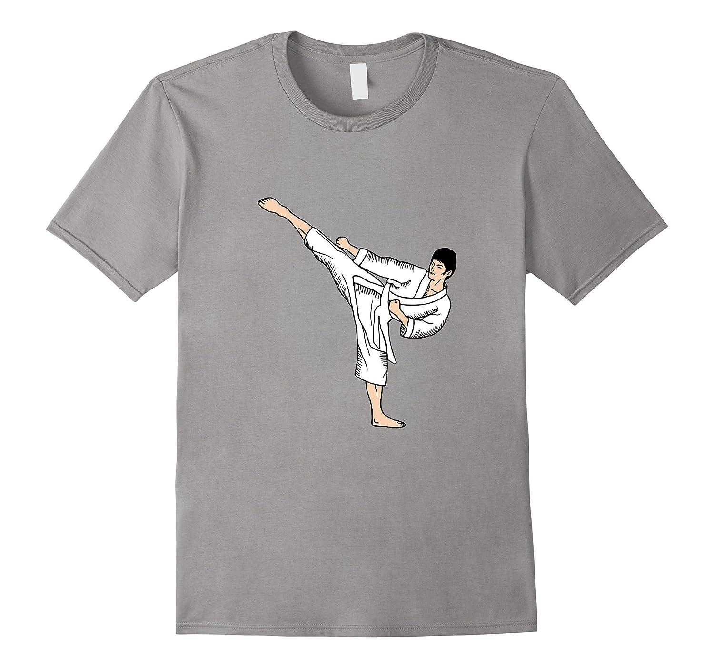 Male White Belt Martial Arts Karate Judo Taekwondo Tshirt-CD
