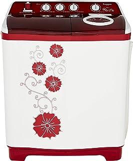 Panasonic 7 kg Semi Automatic Top Loading Washing Machine  NA W70G4RRB, Red  Washing Machines   Dryers