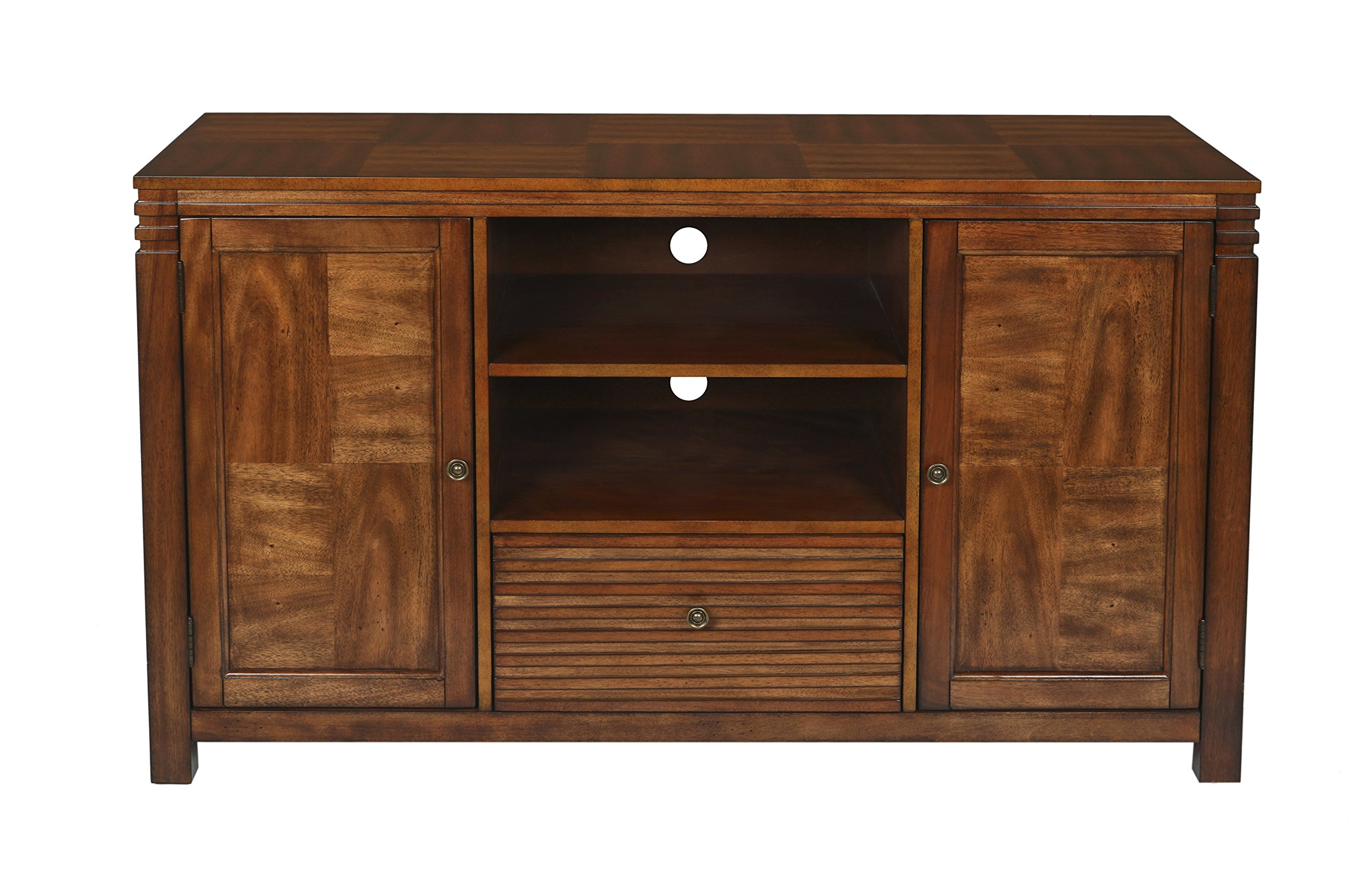 New Classic Parquet Entertainment Console, Burnished Walnut