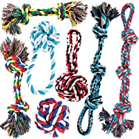 AMZpets Dog Toy Set for Large Dogs and Aggressive Chewers - 7 Nearly Indestructible...