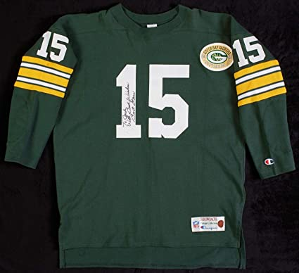 best sneakers 757ba 070d2 Bart Starr Signed Authentic 1966 Green Bay Packers Throwback ...