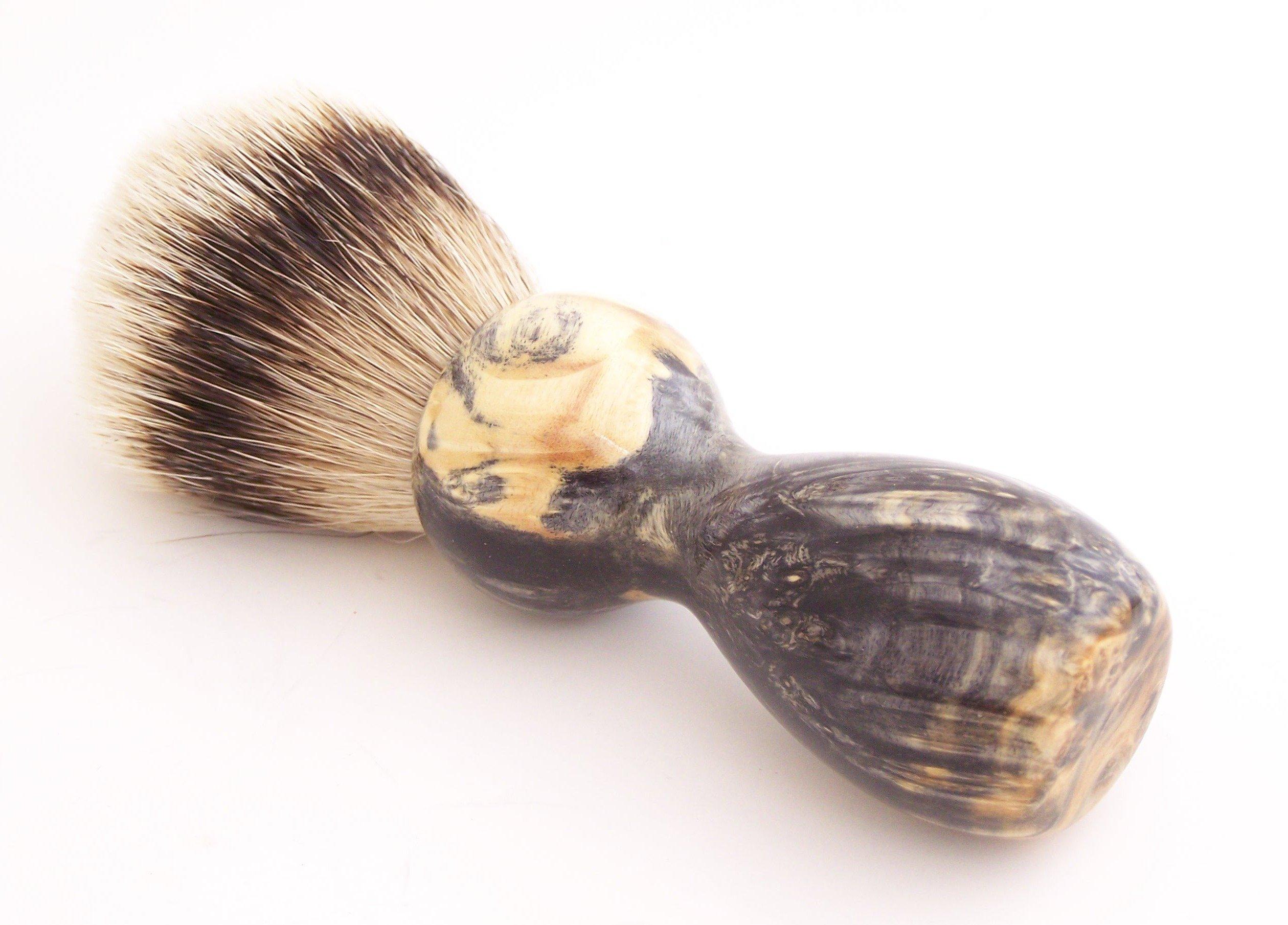 Black Box Elder Burl Wood 22mm Super Silvertip Shaving Brush (BEB30)