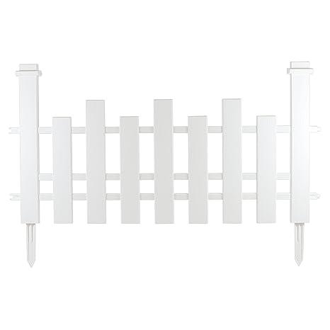 Tradizionale Paesaggio Bianco Picket Fencing In Un Legno Bianco Con