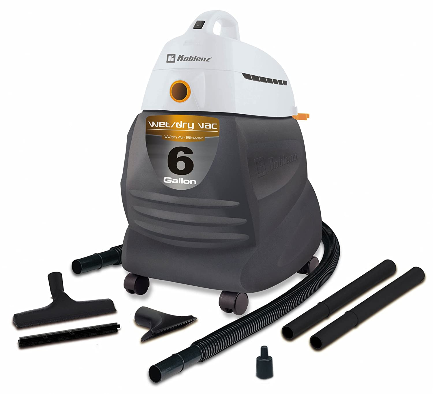 Koblenz WD-650 KG US 6-Gallon Wet/Dry Vacuum - Corded