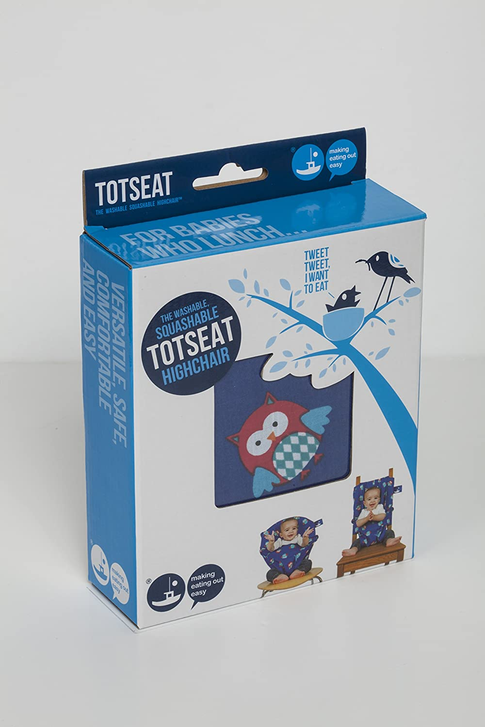 Totseat Portable Chair Harness Blue Night Owls