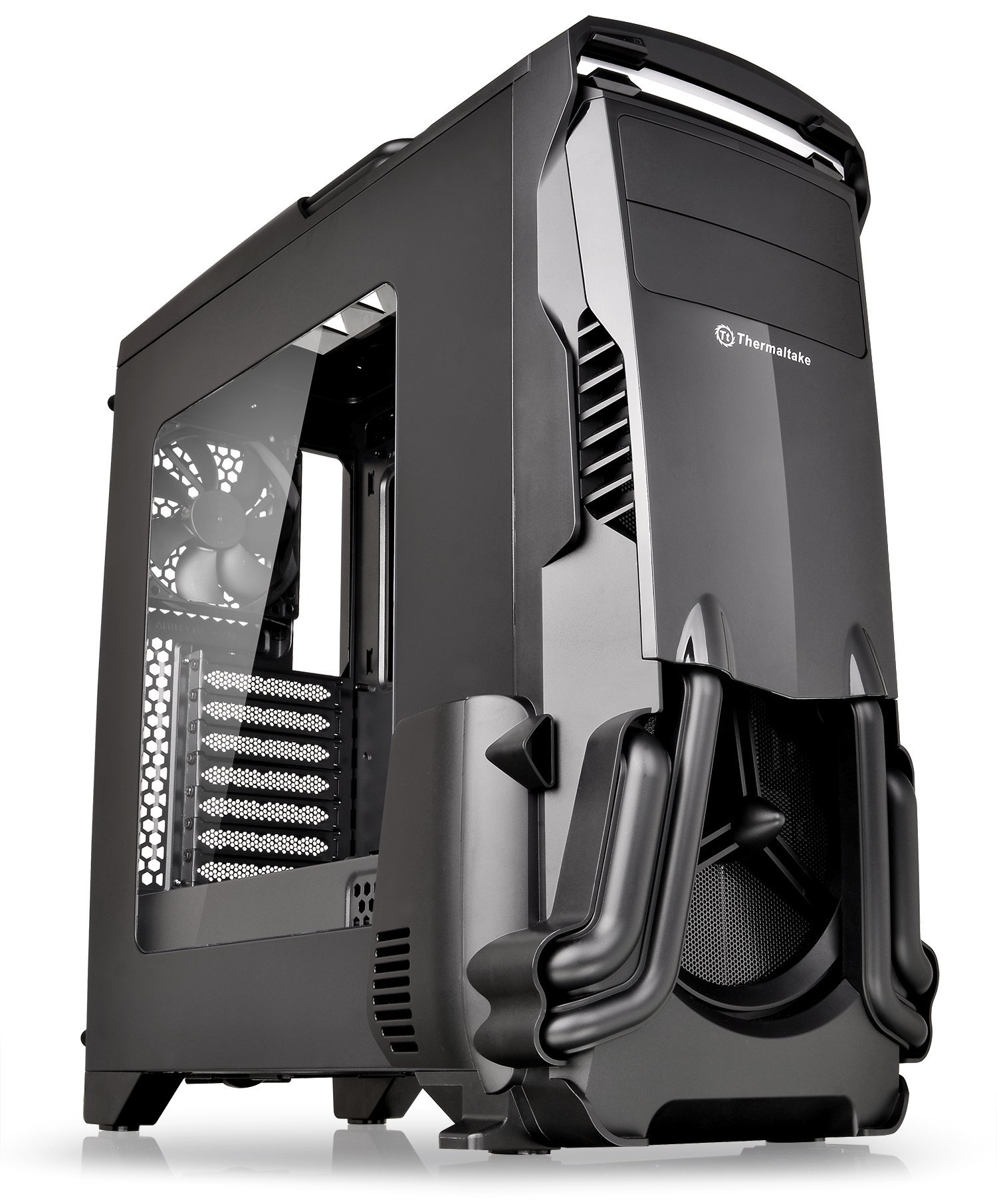 Thermaltake Versa N24 Black ATX Mid Tower Gaming Computer Case Chassis with Power Supply Cover, 120mm Rear Fan preinstalled. CA-1G1-00M1WN-00 by Thermaltake (Image #8)