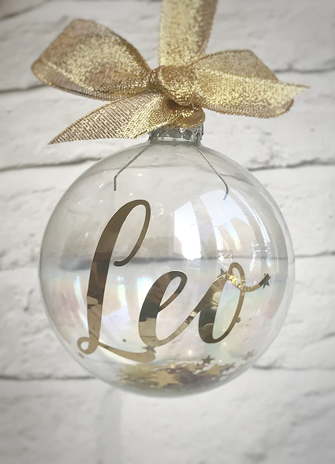 Personalised Christmas Bauble, Glass Named Bauble, Christmas Tree ...