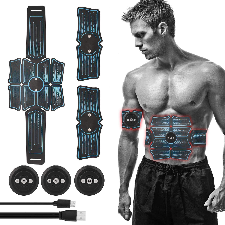 Lixada Electroestimulador Muscular M/áquina de Abdominales Entrenamiento Muscular para Fitness Adelgazante Quema de Grasa