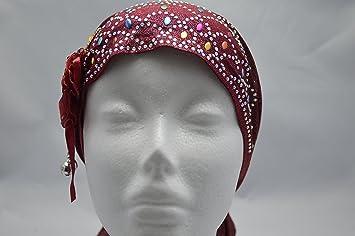 Amazon.com : Jeweled Cotton Blend Inner Hijab Tube Cap (Black) (MAROON) : Beauty
