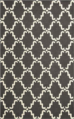 SUPERIOR 5' x 8' Grey/White Moroccan Lattice Area Rug
