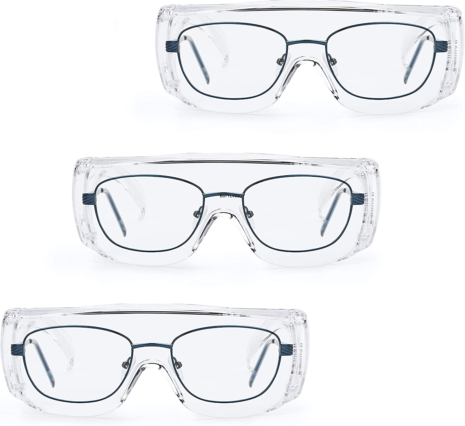 Clear Lense Safety Glasses with SolidWork Safety Goggles with universal fit