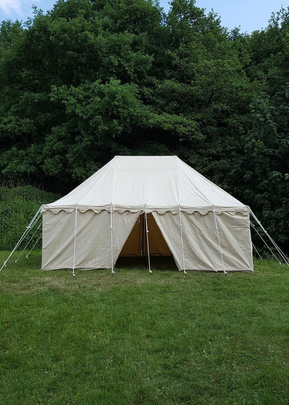 Ritter Tente Mark Ward, 6 x 4 m, 425 GMS, Naturel Camping médiévale Force Tente Roulement LARP Viking  -
