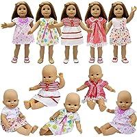 ZITA ELEMENT 5X Vestidos Lindo para Bebé Muñecas