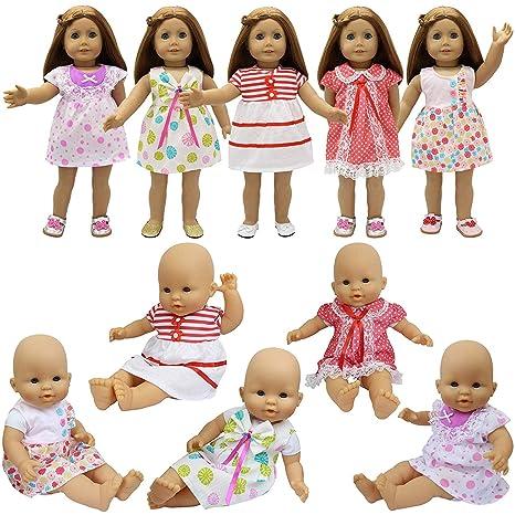 8a59536c2 ZITA ELEMENT 5X Vestidos Lindo para Bebé Muñecas Ropa Muñecas 35-46cm   14-