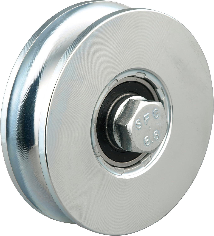 GAH-Alberts 419264 - Rueda para puertas correderas (100 mm, peso máximo: 700 kg, metal galvanizado en azul): Amazon.es: Bricolaje y herramientas