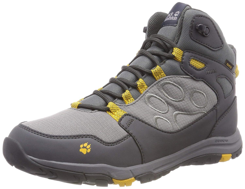 gris (Burly jaune Xt 3802) 44.5 EU Jack Wolfskin Activate Texapore Mid M, Chaussures de Randonnée Hautes Homme