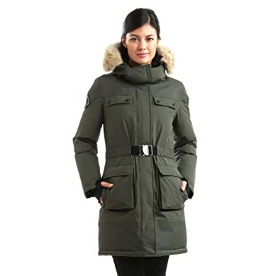 Triple F.A.T. Goose Arkona Womens Hooded Down Jacket Parka with ...