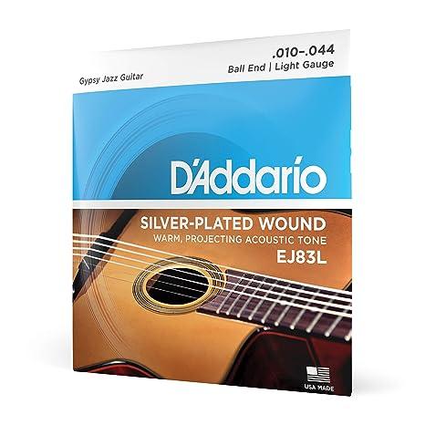 DAddario EJ83L - Juego de cuerdas para guitarra acústica.010 ...