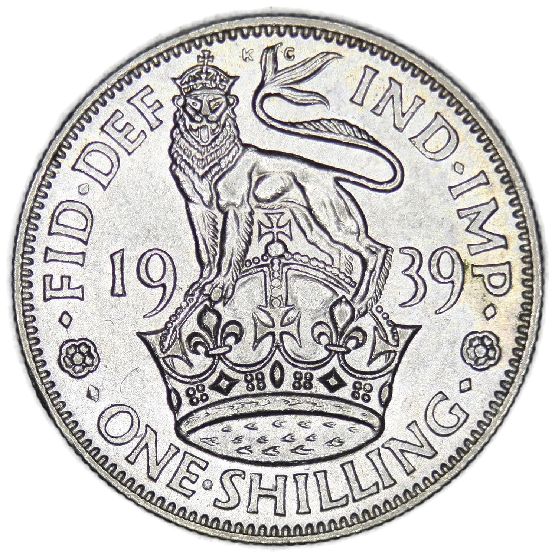 1939 UK George V British Silver Shilling Gem Uncirculated