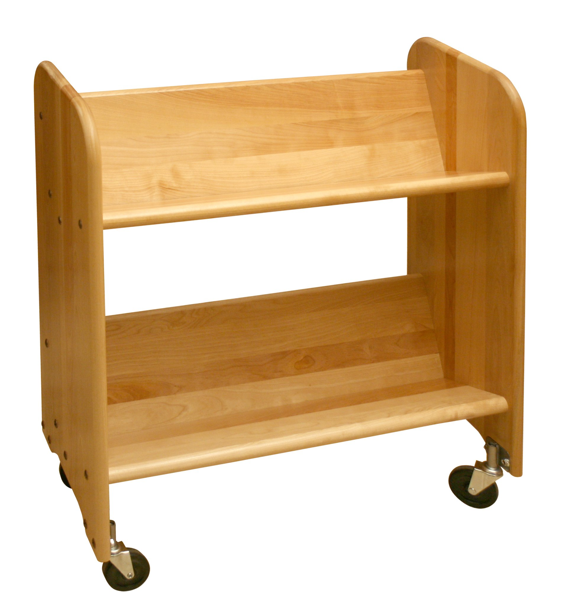 Catskill Craftsmen Bookmaster Rack with Tilted Shelves, Natural Birch by Catskill Craftsman