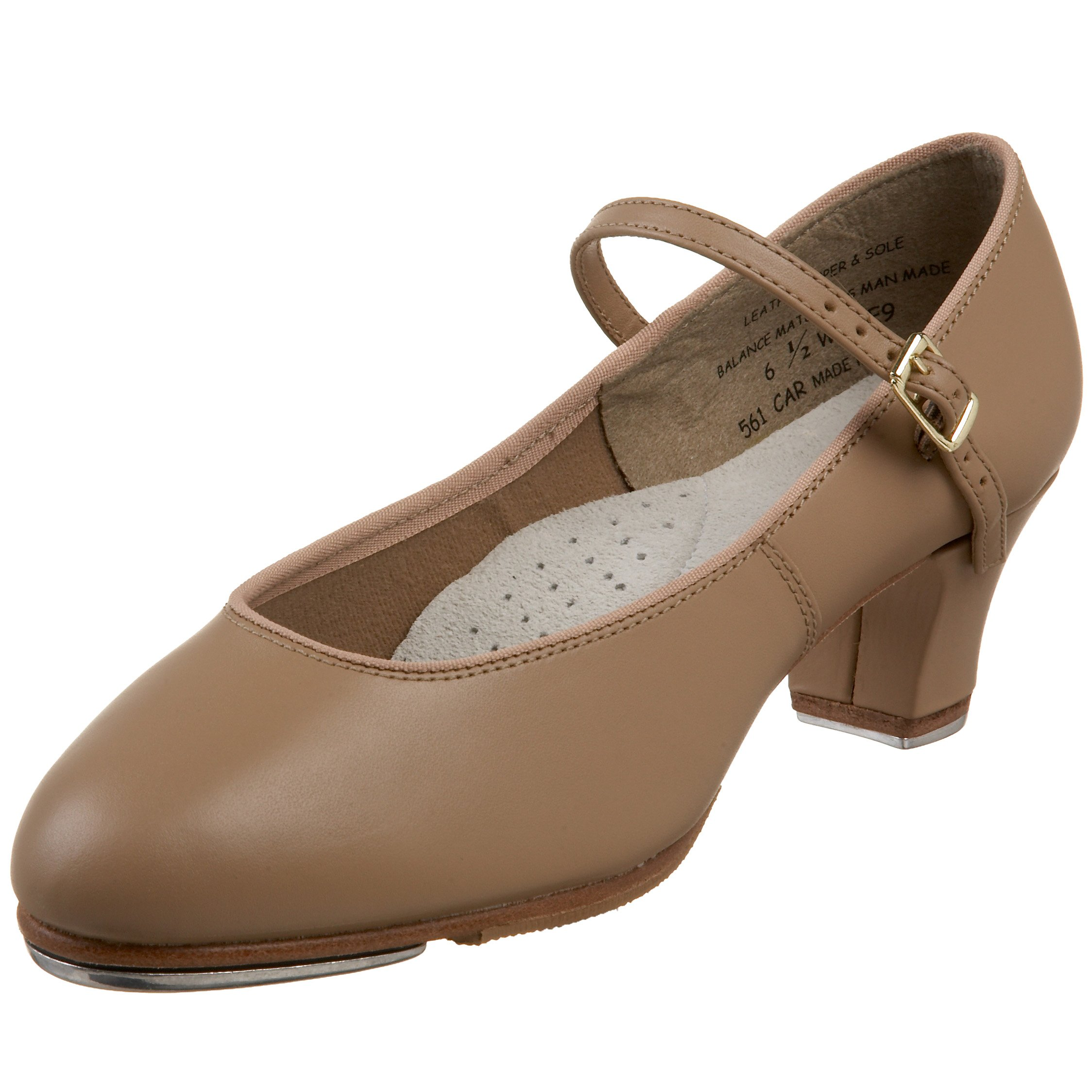 Capezio Women's Tap Jr. Footlight Tap Shoe,Caramel,6 M US