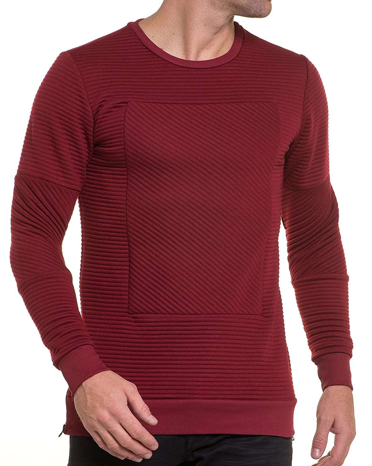 BLZ jeans - quilted red sweater man united oversize