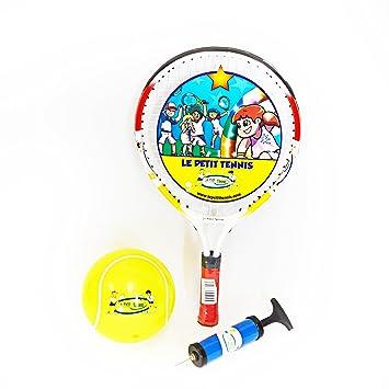 """c6a5e3c82b622 Le Petit Tennis - Raquette 17"""" + Balle Tennis Gonflable 15cm - pour  Enfant de"""
